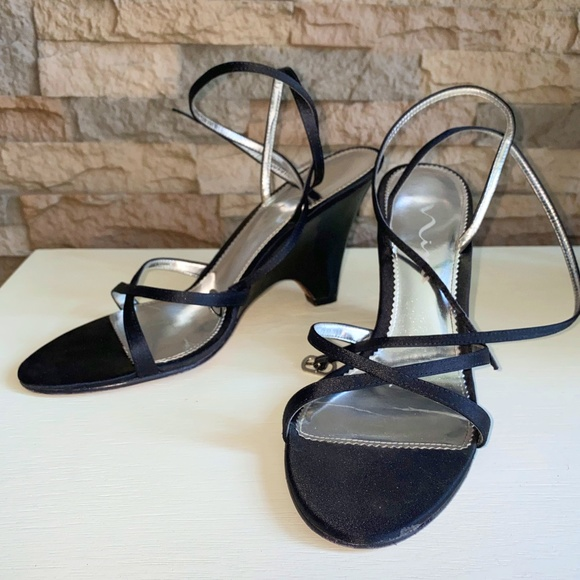Women's Strappy Skinny Wedge Heels